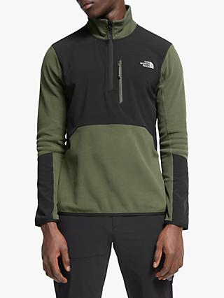The North Face Glacier Pro 1/4 Zip Fleece, New Taupe Green/TNF Black