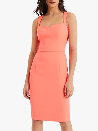 Damsel in a Dress Fluorescent Vida Fitted Dress, Fluoro Orange