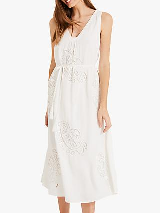 Phase Eight Esmae Rose Broidery Dress, White