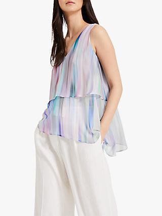 Phase Eight Rainbow Blouse, Blue/Multi