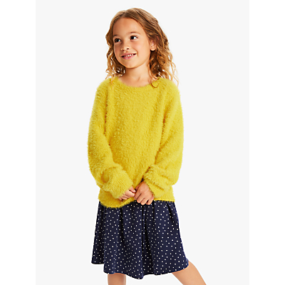 John Lewis & Partners Girls' Eyelash Jumper