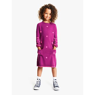 John Lewis & Partners Girls' Stripe Spot Dress
