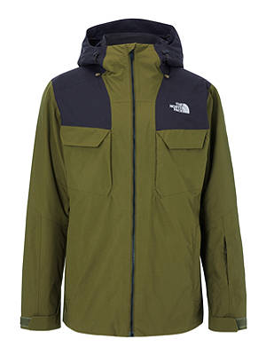 Buy The North Face Fourbarrell Triclimate® Men's Waterproof Ski Jacket, Military Olive/TNF Black, S Online at johnlewis.com