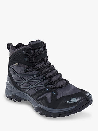 Buy The North Face Hedgehog Fastpack Mid Men's Waterproof Gore-Tex Hiking Boots, TNF Black/Dark Shadow Grey, 8 Online at johnlewis.com
