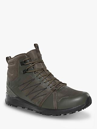 The North Face Litewave Fastpack II Men's Waterproof Hiking Boots, New Taupe Green/TNF Black