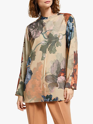 Buy Modern Rarity Painted Bloom Blouse, Natural, 20 Online at johnlewis.com