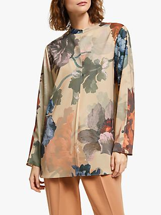 Modern Rarity Painted Bloom Blouse, Natural