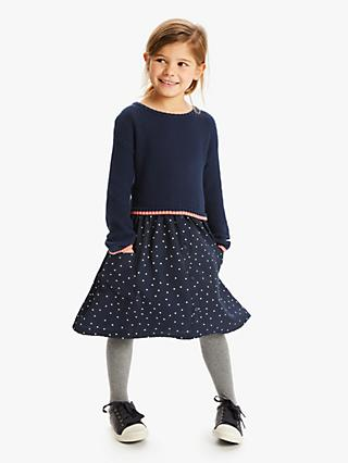 John Lewis & Partners Girls' Knit Dress, Navy