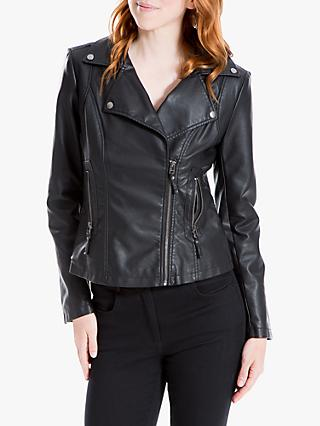 Max Studio Leatherette Biker Jacket