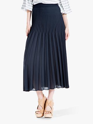 Max Studio Pleated Skirt, Navy