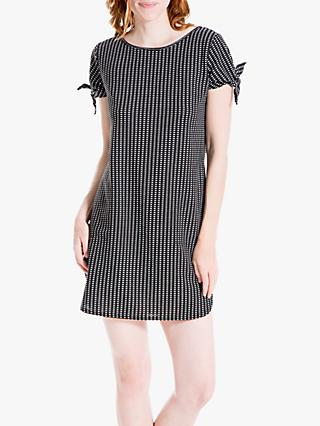 Max Studio Tie Sleeve Jacquard Dress, Black/White