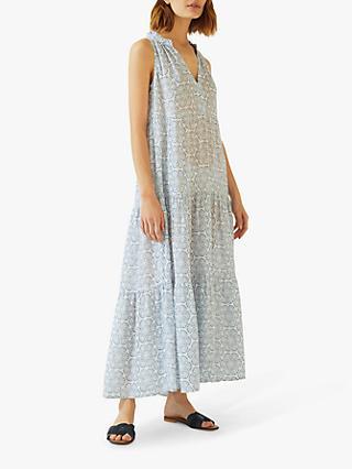 c1bdad9c3cb Jigsaw Floral Batik Linen Maxi Dress