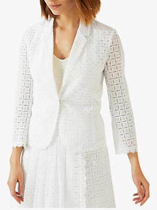 Image result for Jigsaw Cotton Embroidery Jacket, White
