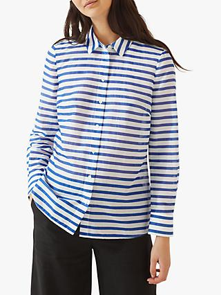 4894d0137ae Jigsaw Stripe Sheer Cotton Shirt