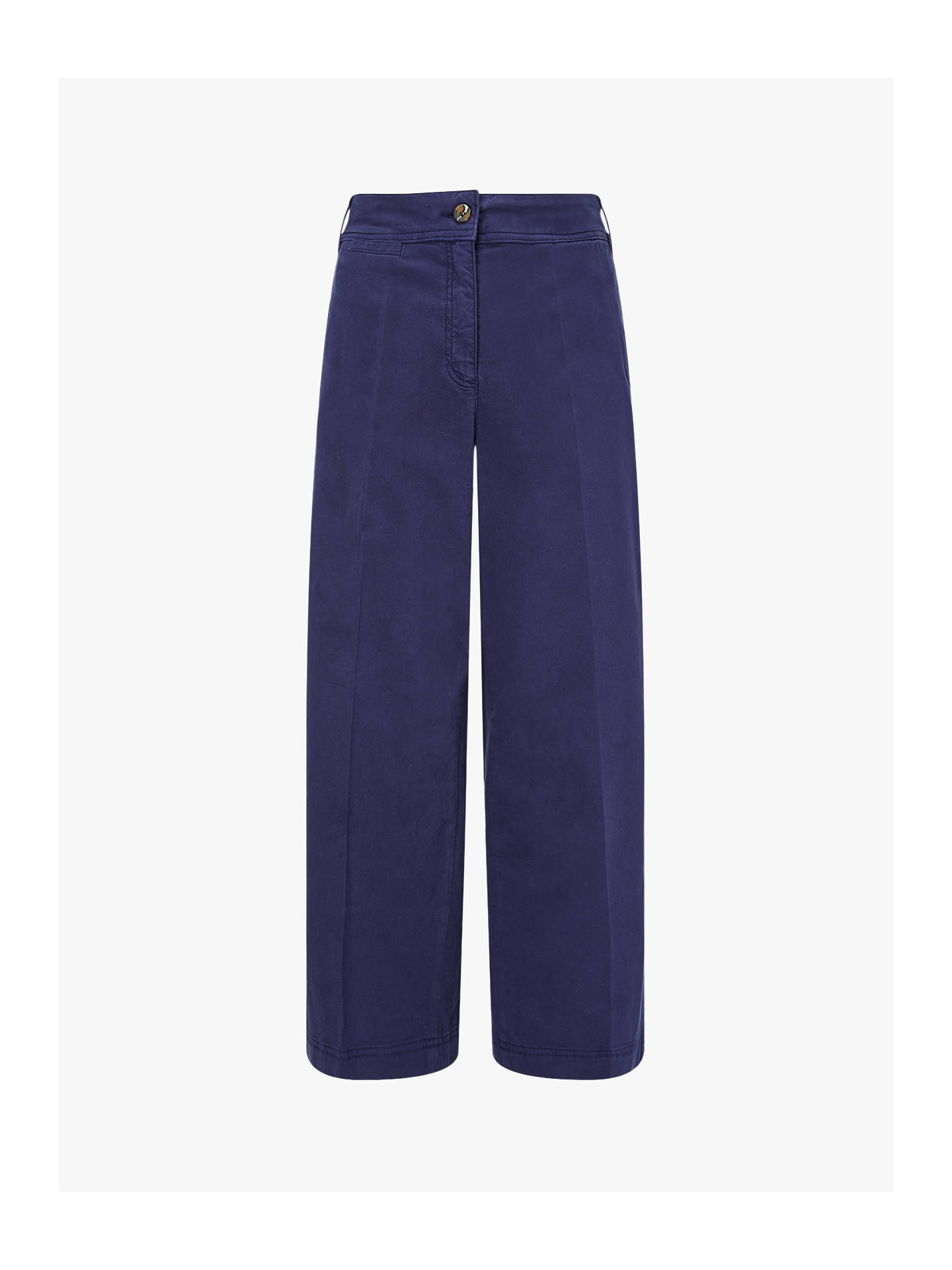 Buy Jigsaw  High Waist Wide Leg Chinos, French Navy, 6 Online at johnlewis.com
