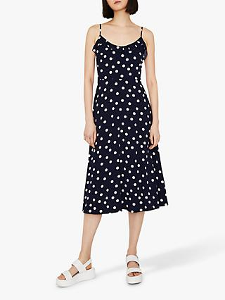 9246372ffff76f Warehouse Spot Strappy Midi Dress