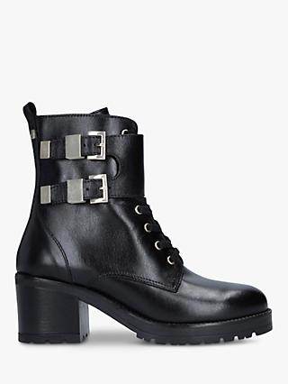 Carvela Spicy Buckle Detail Leather Ankle Boots, Black