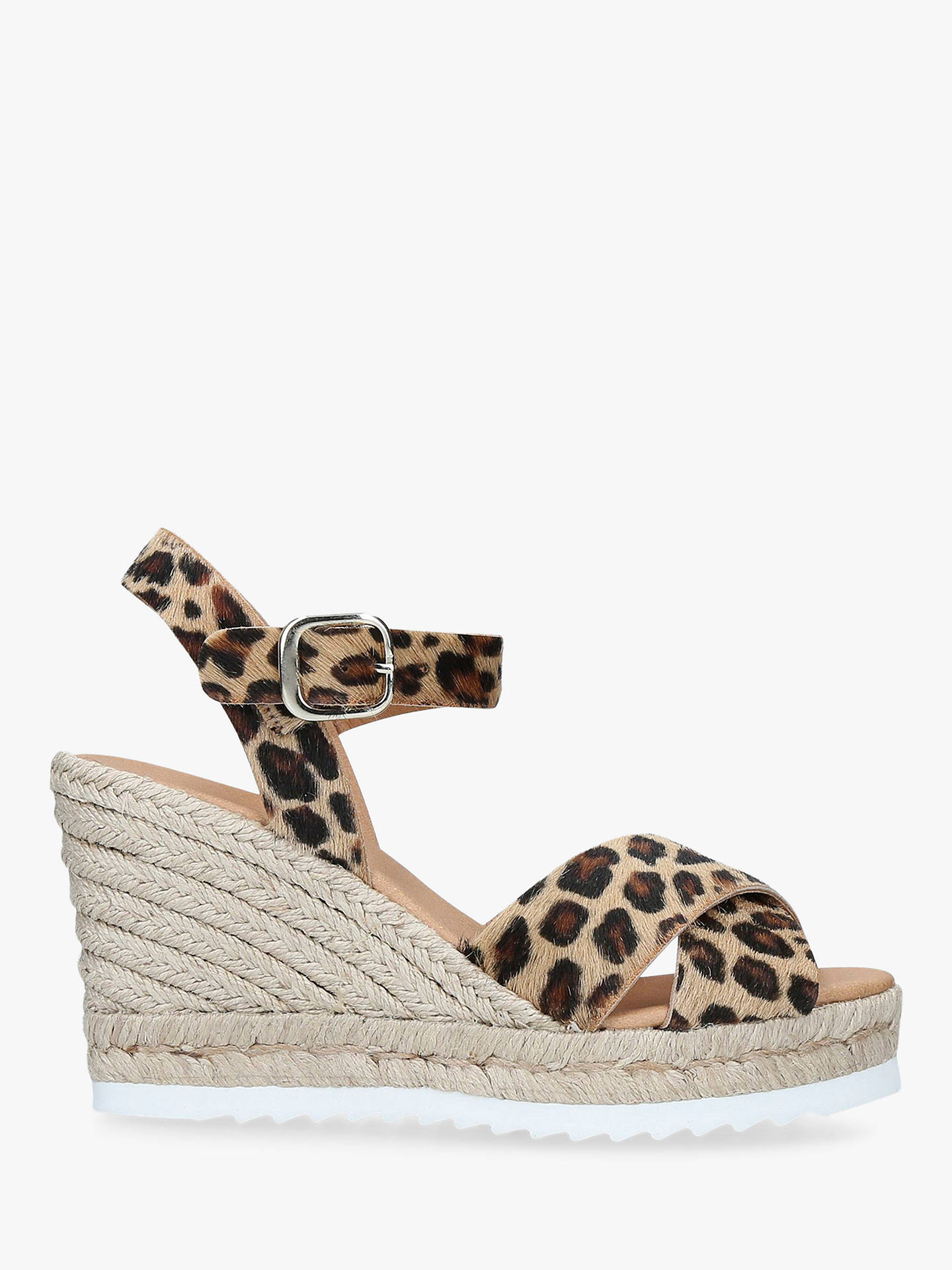 f913a16caa1 Carvela Koy Woven Wedge Leather Sandals, Brown/Multi