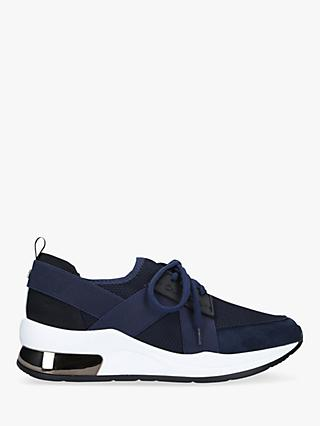 Carvela Jetson Lace Up Trainers, Navy