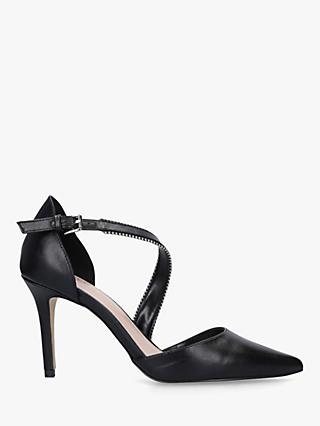Carvela Kiln Two Part Stiletto Heel Court Shoes, Black