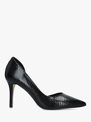 Carvela Kontrol Stiletto Heel Court Shoes, Black