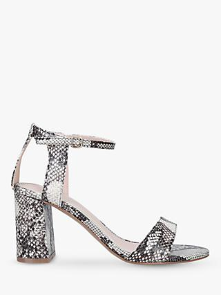 7c6948d957 Carvela Kiki Snake Print Block Heel Sandals, Natural Multi