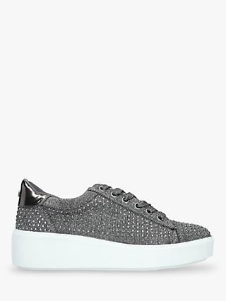Carvela Jeorgia Metallic Chunky Trainers, Pewter