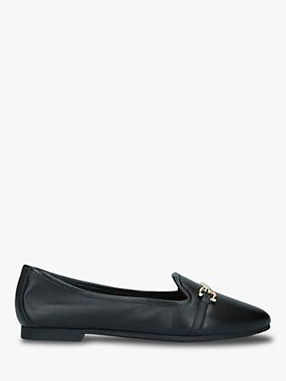 Carvela Master Leather Buckle Ballet Pumps, Black