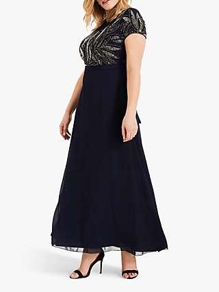 Studio 8 Flora Beaded Maxi Dress, Indigo
