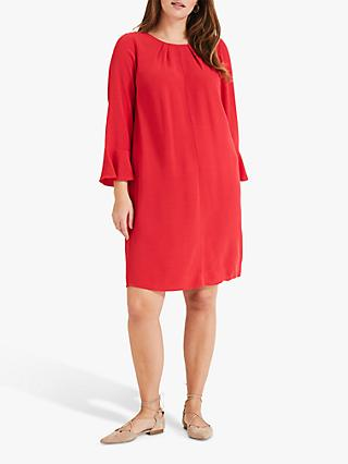 Studio 8 Avery Pleated Back Dress, Red