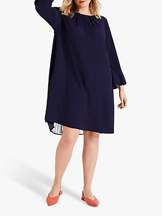Studio 8 Avery Pleated Back Dress, Navy