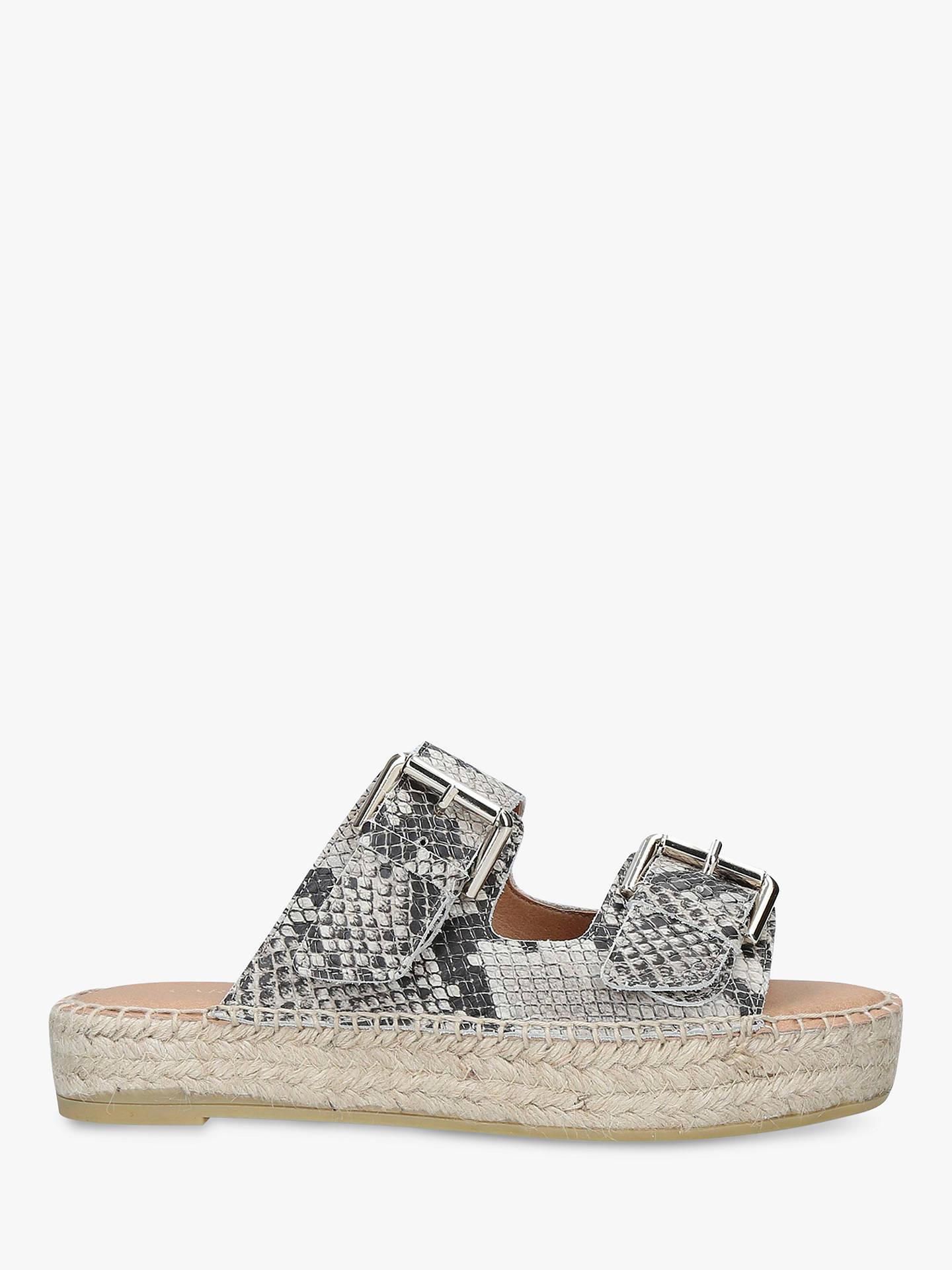 93936aca37 Buy Carvela Klever Leather Slip On Sandals, Beige, 3 Online at  johnlewis.com ...