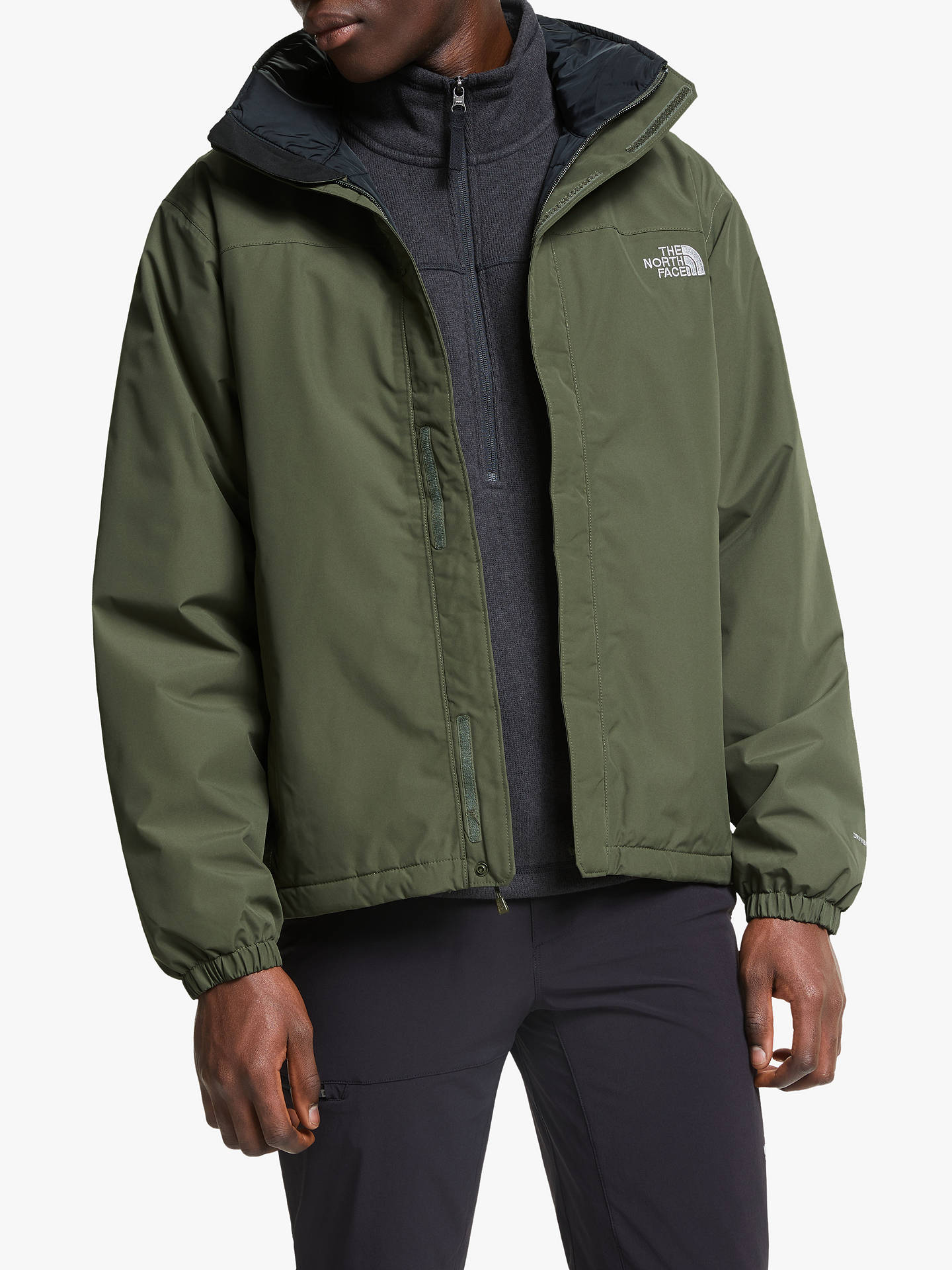 The North Face Resolve Men's Insulated Jacket, New Taupe Green by The North Face