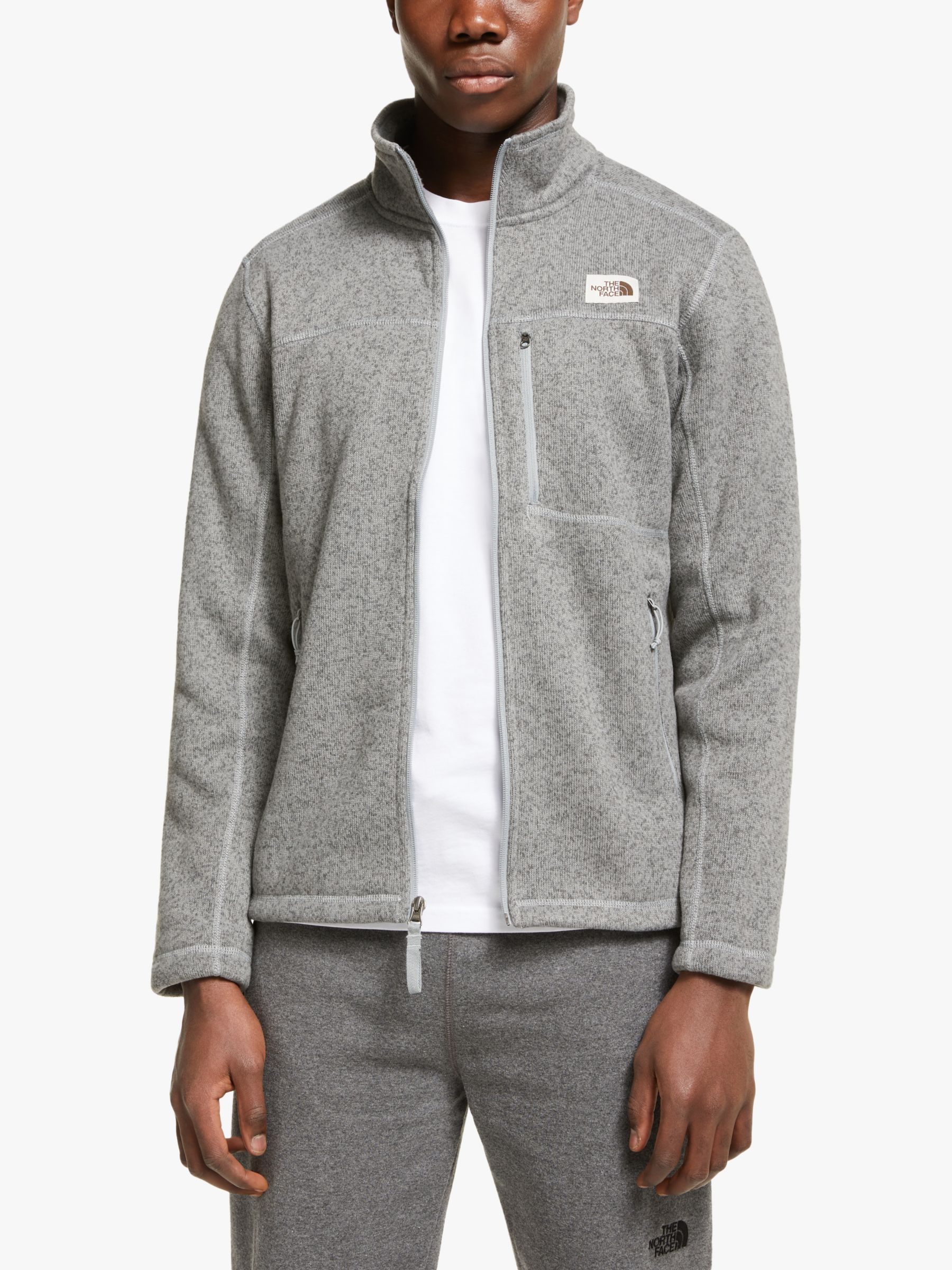 The North Face The North Face Gordon Lyons Full Zip Men's Fleece Jacket, TNF Medium Grey Heather