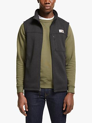 The North Face Gordon Lyons Men's Fleece Vest, TNF Black Heather