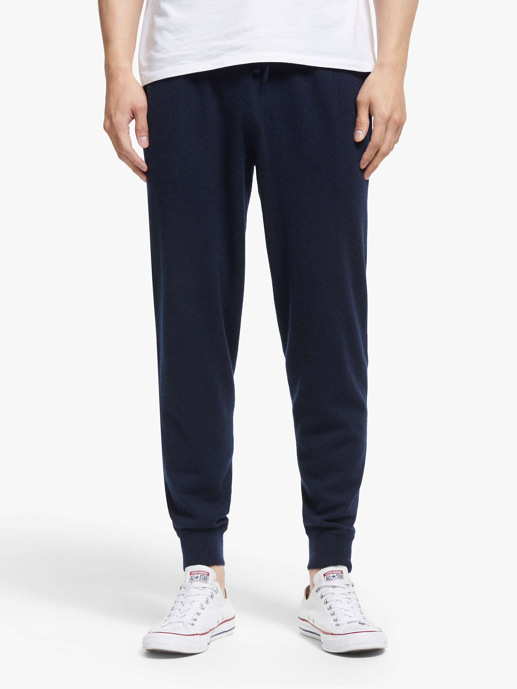 John Lewis & Partners Cashmere Joggers, Navy by John Lewis & Partners