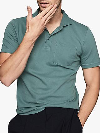 Reiss Beckton Textured Cotton Polo Shirt