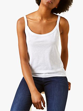 White Stuff Stitch Cotton Cami Vest Top
