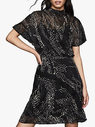 Reiss Amelia Soft Burnout, Black/Multi