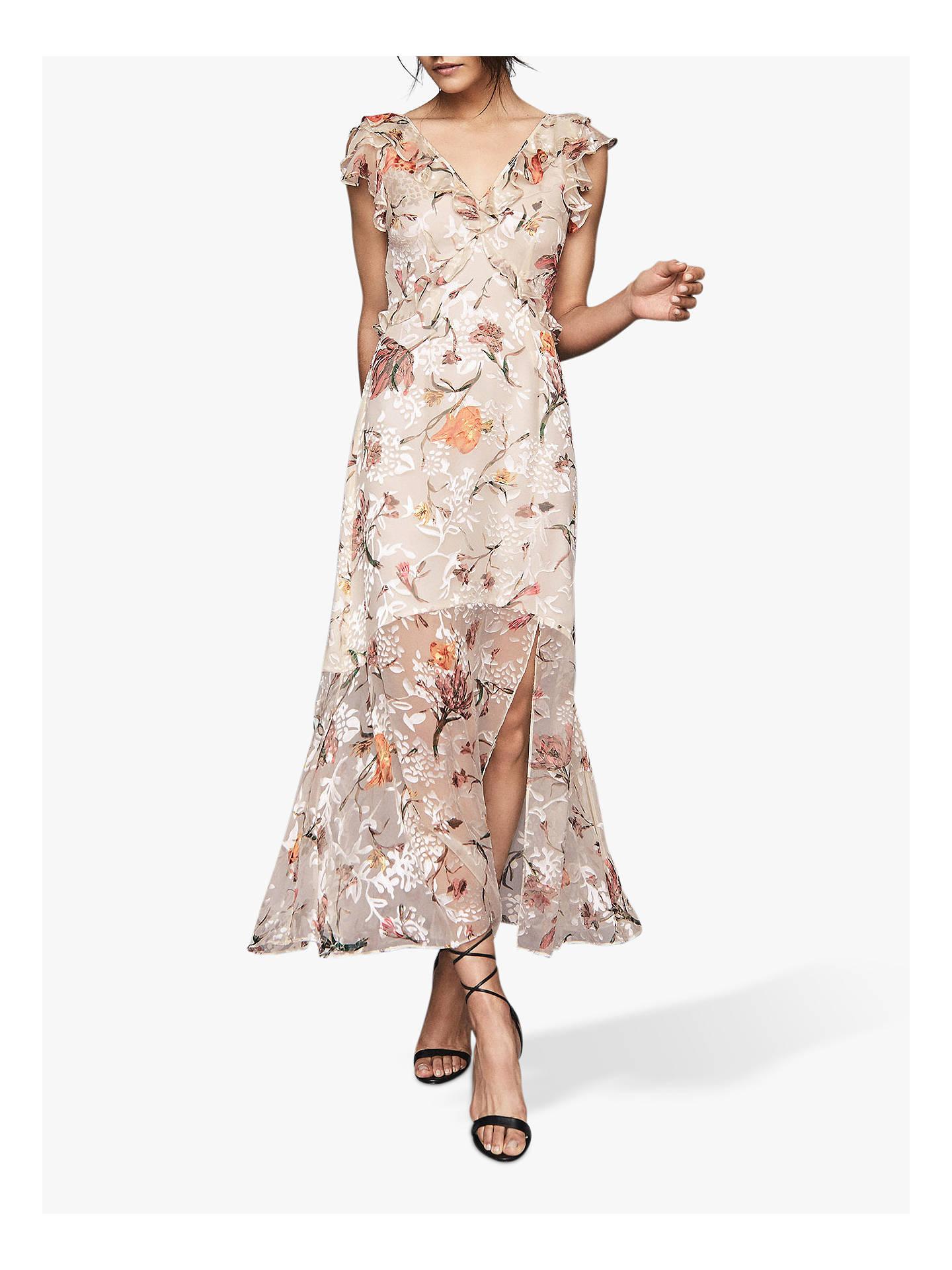 794e5116a7 Reiss Leila Burnout Maxi Dress, Blush/Multi