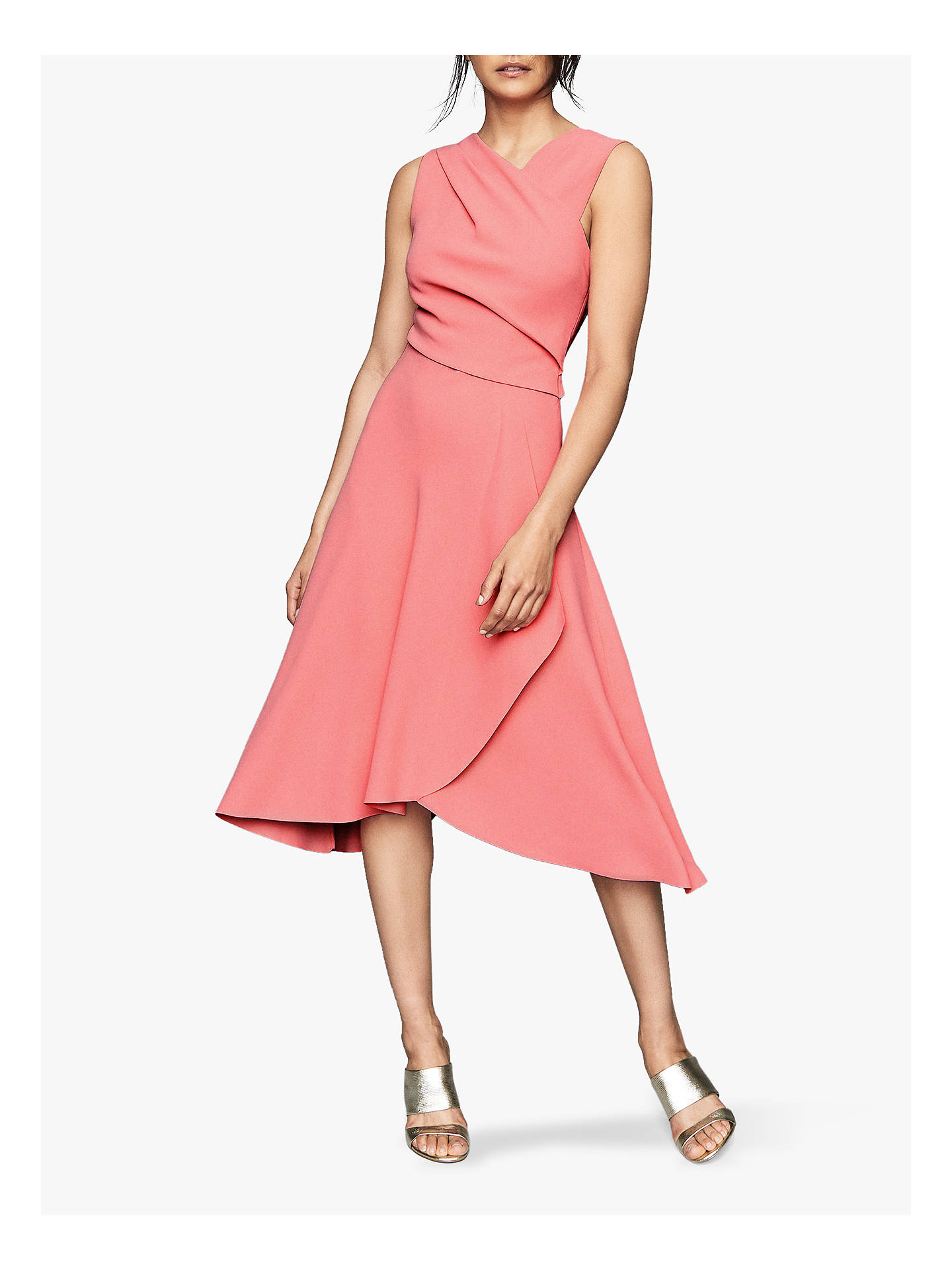Reiss Marling Wrap Dress, Pink by Reiss