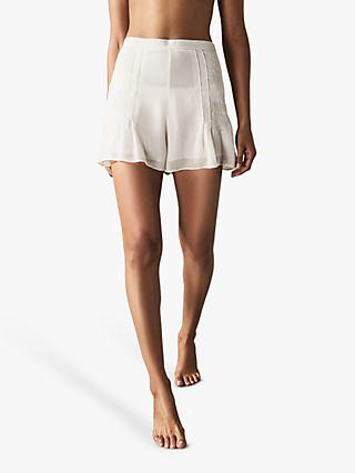 Reiss Martina Embroidered Shorts, Off White