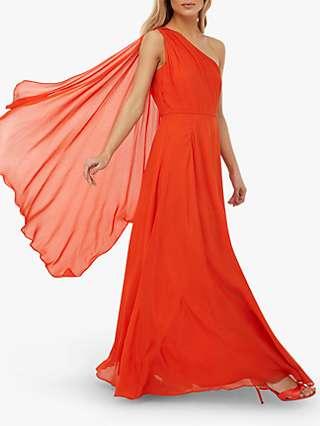 Monsoon Athena Maxi Dress, Orange