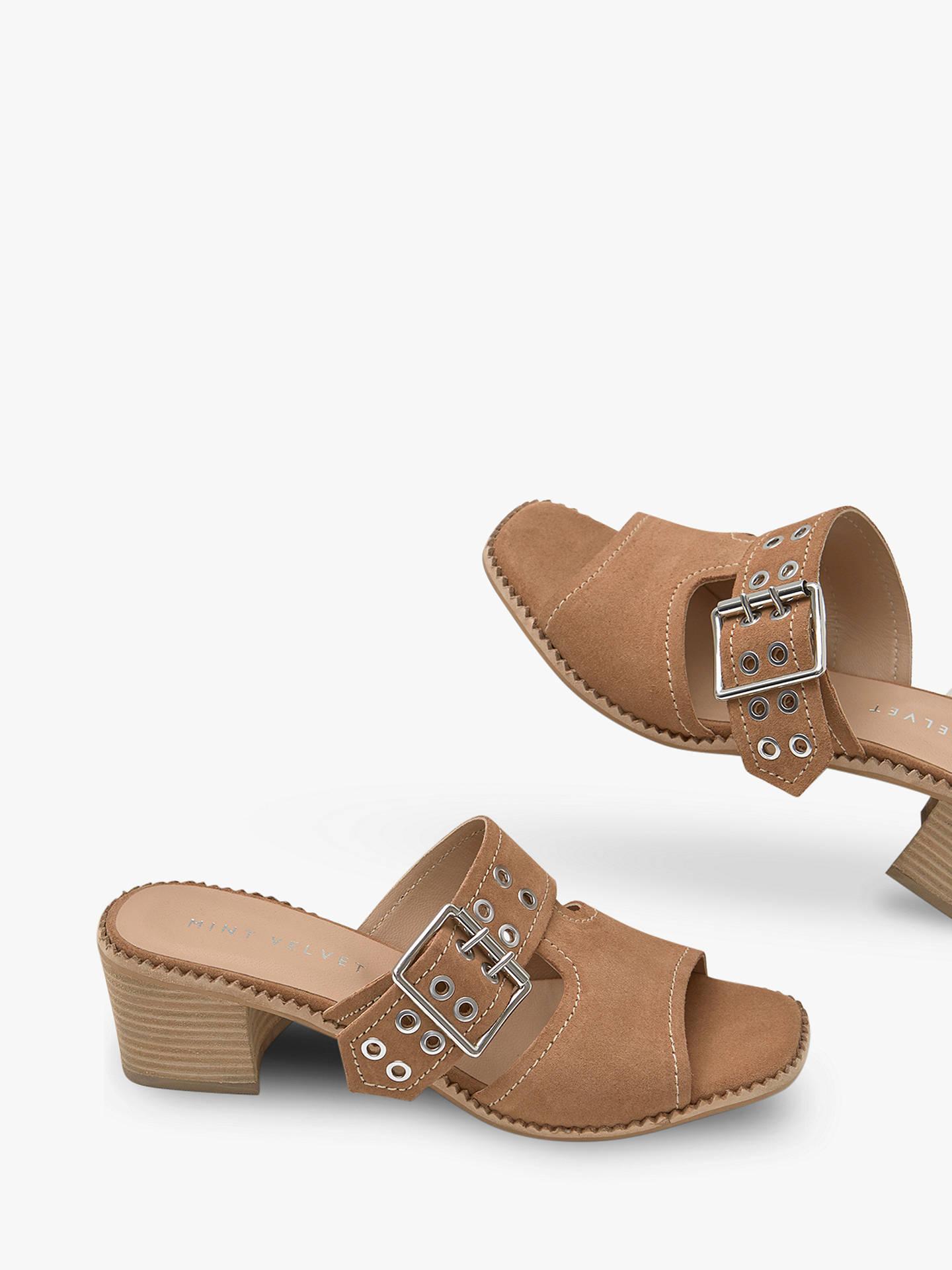 beb6f18e0479 Buy Mint Velvet Blair Suede Buckle Mule Sandals