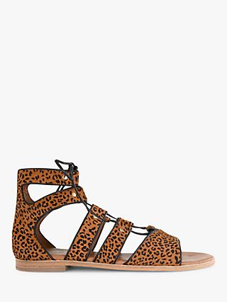 Mint Velvet Louisa Animal Gladiator Sandals, Multi