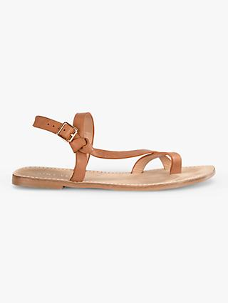 Mint Velvet Kristen Leather Knot Sandals