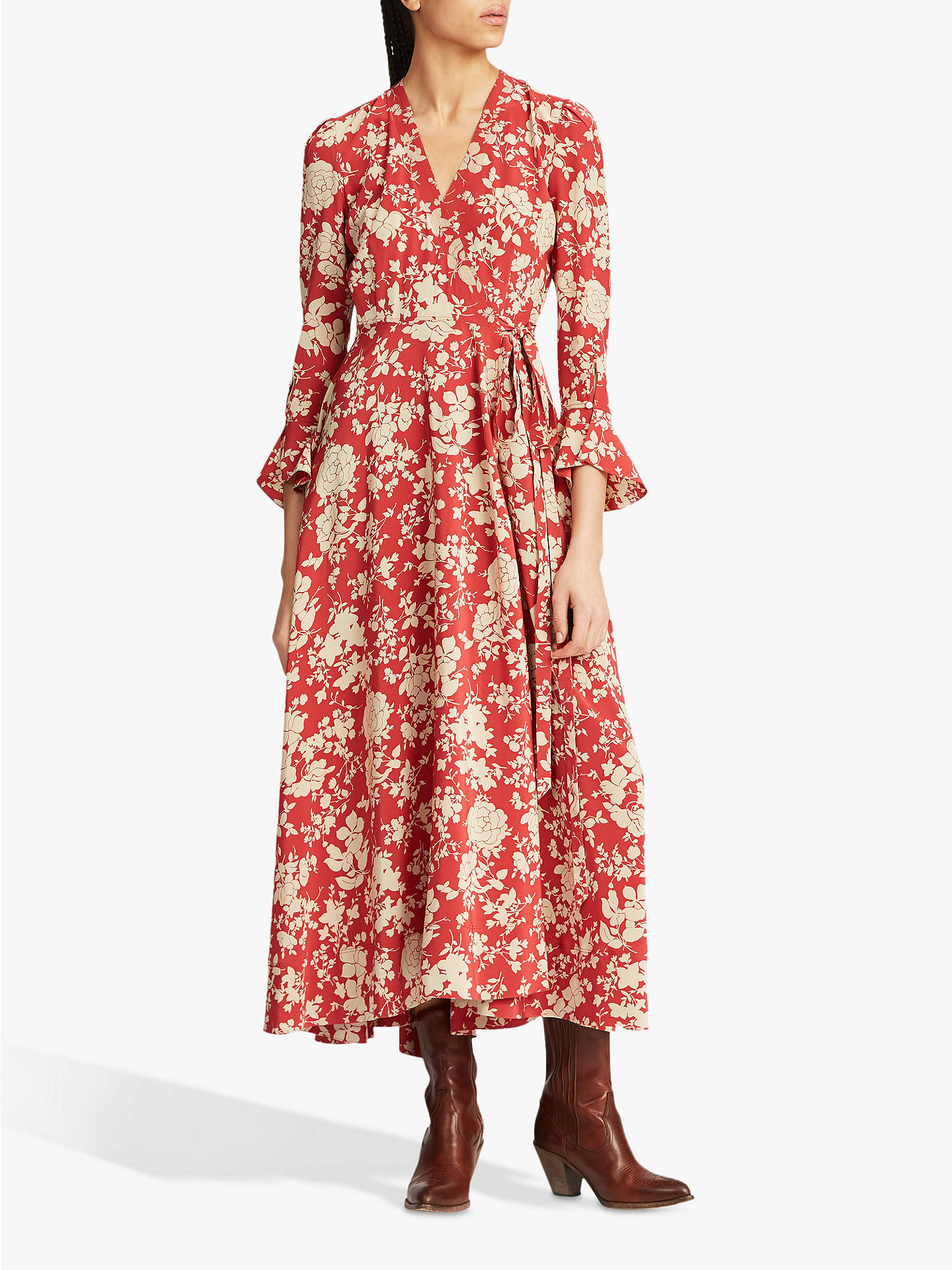 DressRed Floral Ralph Meadow Polo Maxi Print Lauren K1TlFJ3c