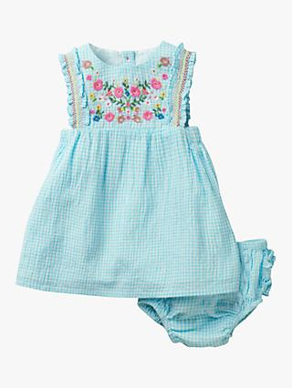 Mini Boden Baby Floral Embroidered Cotton Dress