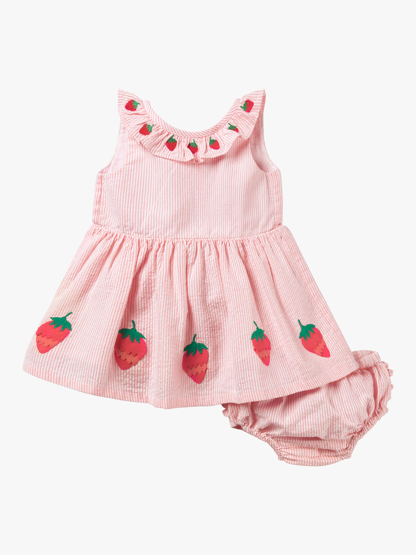 e5cd45d0da5c Buy Mini Boden Baby Strawberry Stripe Dress and Knickers, Pink, 0-3 months  ...