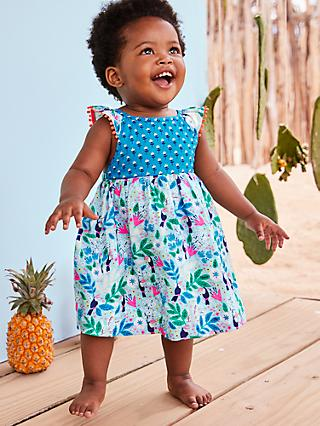 354741308d40e Mini Boden Baby Floral Hotchpotch Dress and Knickers Set, Toucan Garden